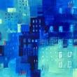 BLUE-CITY-2018-acrilici-30x30cm-San-Gimignano