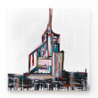 VISION – 2013, acrilico, pastello ed inserti in acciaio su tela, 100x100cm