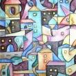 IL-TRAMONTO-IN-CITTA-2014-olio-su-tela-30-cm-x-20-cm