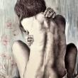 Il-dolore-è-come-un-segreto70x100-biroacrilico-su-tela-2014-Erika-Azzarello