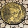 ORO NERO - 2017, acrilici su tela, ø 14cm
