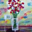 Connective-flowers-Tecnica-mista-su-legno-45x36-circa-anno-2016