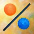 Percentuale-cosmica-Acrilico-su-tela-80x80-anno-2013