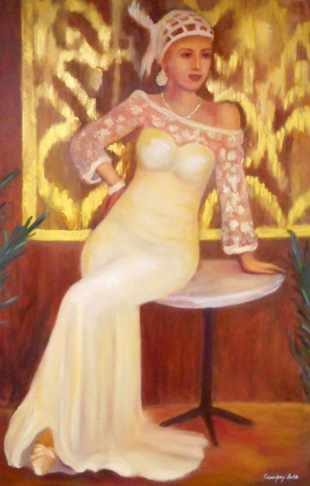 YOUNG LADY - 2016, olio su tela, 50x70cm