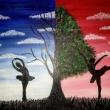 Dancing-through-nature-acrilico-su-tela-40x30cm-Sharon-Cosimo