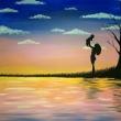 Happiness-acrilico-su-tela-40x50cm-Sharon-Cosimo