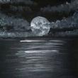 Talking-to-the-moon-acrilico-su-tela-25x30cm-Sharon-Cosimo