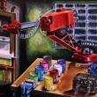 The-painter-macchine-Olio-su-tela-90x1002013Maurizio-dAngiò