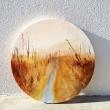 Grano-dorato-diametro-30cm-acrilico-su-tela-2020