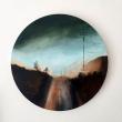 Solitudine-diametro-30cm-acrilico-su-tela-2019