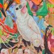 Gli-uccelli-dei-7-continenti-acrilico-su-tela-70x90-2020-copia-1