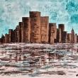 MONTAGNE-DI-CEMENTO-Acrilico-su-tela-50x70-tecnica-mista-con-pennello-spatola-e-tampone-esecuzione-gennaio-2020