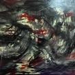 Mare-in-battaglia-acrilico-su-tela-150-x-80-cm