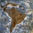 TERRA LATINA - 2017, terra cruda su tela, 100x100cm