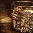 DRINK - Pirografia, 30x30cm