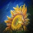 girasol-pittura2-acrilico-su-tavola-50X60
