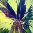 Serie-Spin-Art-acrilico-su-tela-100x-100-Titolo-ali-e-braccia-aperte
