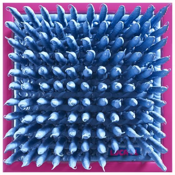 004/13 SINTESI - 2013, silicone su tavola, 35x35x10