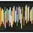 002/16 COLORED LINES© - 2016, PVC e silicone su pannello in fibra di carbonio, 78,5x53,5x3cm