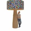 019/15 MARILYN MURRINA POP© - BLU SORRENTO - Prod. Staygreen Venezia - Design struttura Roberto Panio & Partners - 2015, PVC e silicone su struttura in cartone, 184x184x260cm