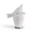 022/13 BIANCOSPINO© - 2013, silicone su terracotta e acciaio, 53x42x33cm