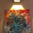 in-galleria-senza-titolo-100x100-su-tela-lavorata-a-affresco-colori-acrilici