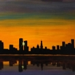 The-City-sunset.-Acrilico-su-tela-70x50