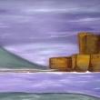 Vista-sul-castello-Acrilico-su-tela-90-x190