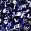 Blu-e-Argento-2018-acrilico-su-pellicola-VHS-su-plastica-e-legno-cm-48x48-Giuseppe-Perrone-PARTICOLARE-2