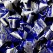Blu-e-Argento-2018-acrilico-su-pellicola-VHS-su-plastica-e-legno-cm-48x48Giuseppe-Perrone-PARTICOLARE-1