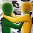 Guerra-ll-verde-su-giallo-olio-su-tela-cm-50x50-Giuseppe-Perrone