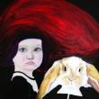 Alice-il-coniglio-olio-e-acrilico-su-tela-50x50cm