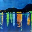 Una-notte-sul-lago-2010-olio-su-tela-cm-95-x-67