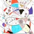 SPAZIALISMO - Penna e pennarelli su carta, 29x21cm