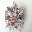 PESCARE-LINCERTEZZA-2006-matita-penna-pastelli-su-cartoncino-50-cm-x-35-cm